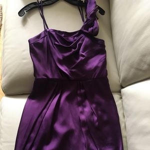 Grape BCBG one shoulder dress SIZE 6
